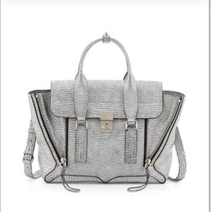 3.1 Phillip Lim Pashli Silver Leather Bag